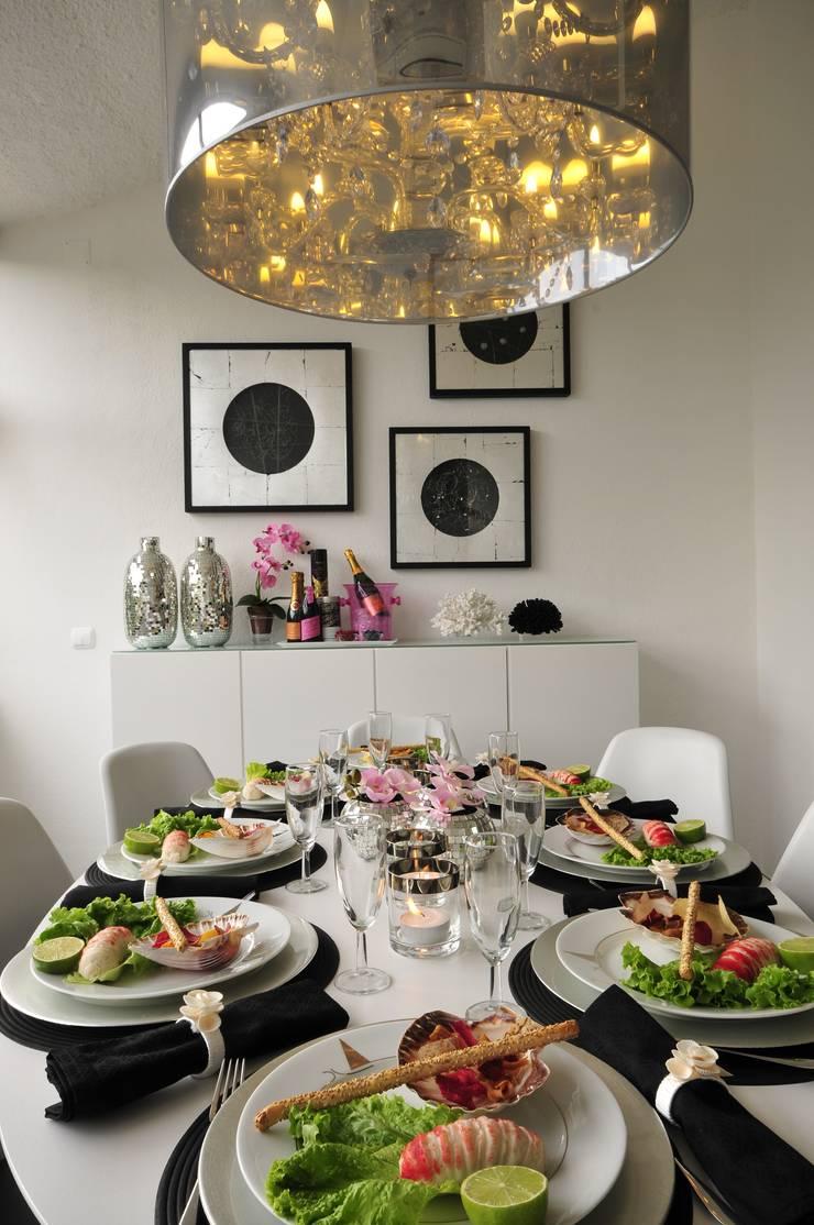 Residência Privada Vilamoura: Salas de jantar  por Leonor Moreira Romba - Arquitecturas
