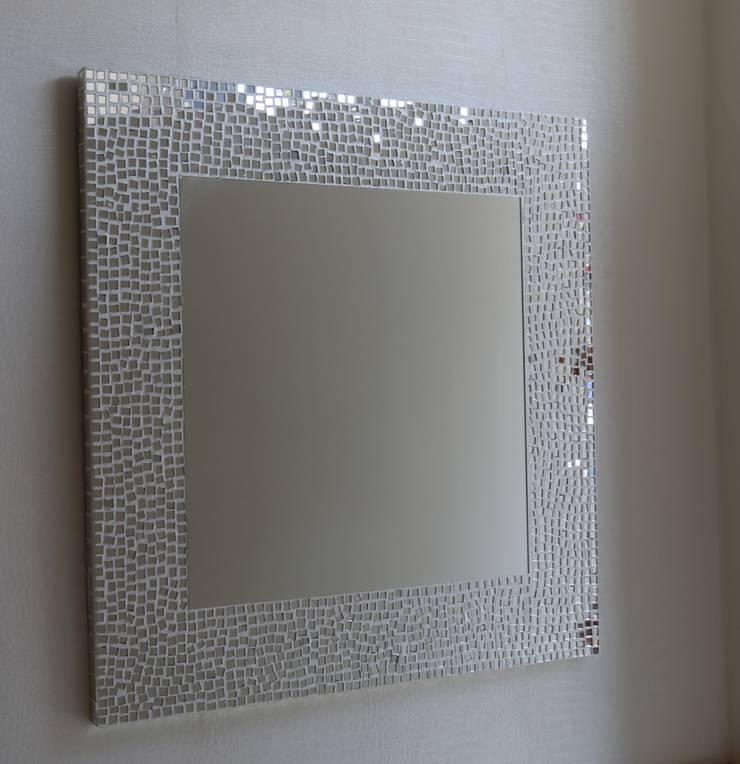 VERA CAM AYNA DEKORASYON – Beyaz Kristal: modern tarz , Modern