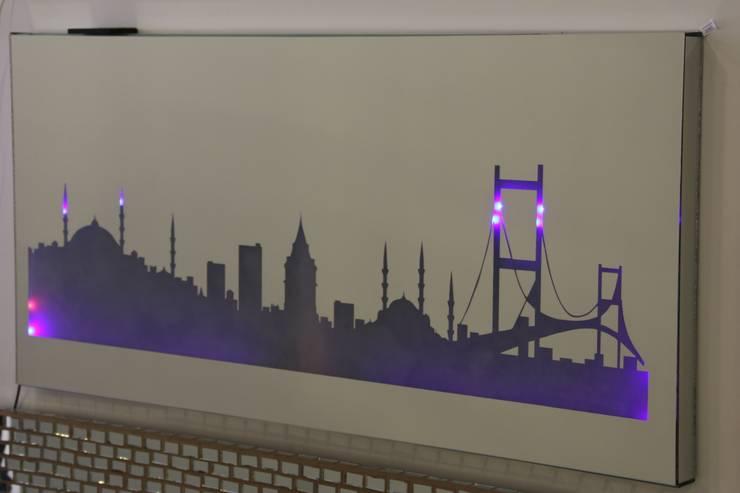 VERA CAM AYNA DEKORASYON – istanbul silüeti:  tarz İç Dekorasyon