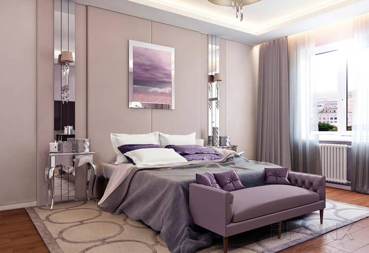 Городок Б, 117 м²: Спальни в . Автор – Bronx,