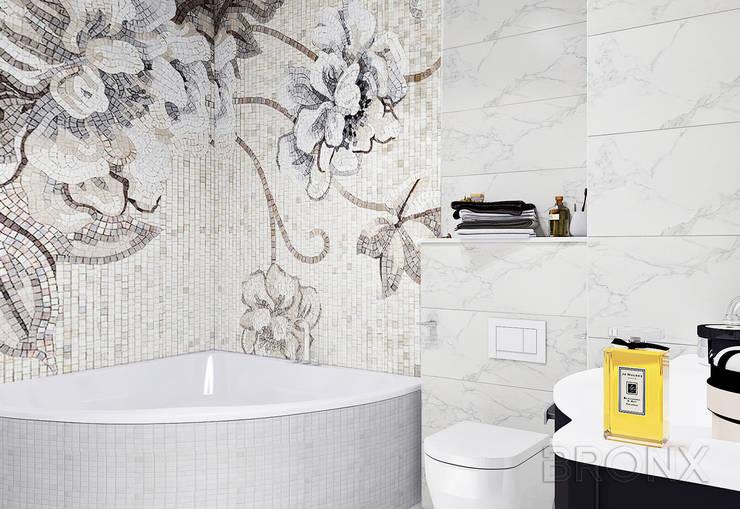 Городок Б, 117 м²: Ванные комнаты в . Автор – Bronx,