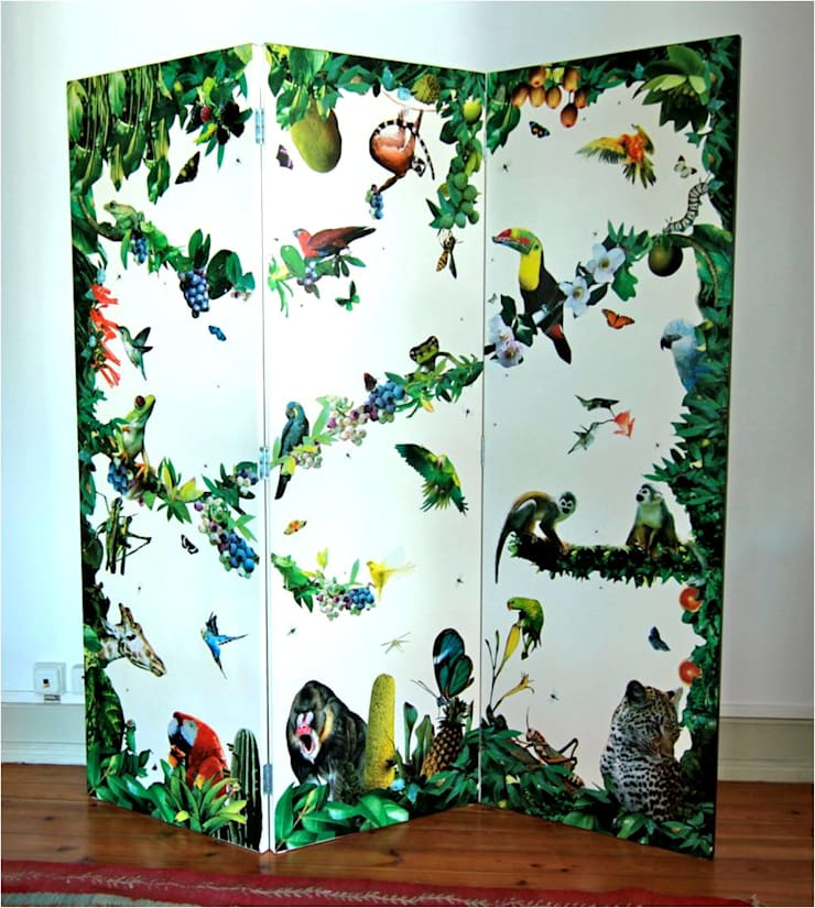 tropical white jungle (frente): Arte  por beatriz Khouri Nature Call