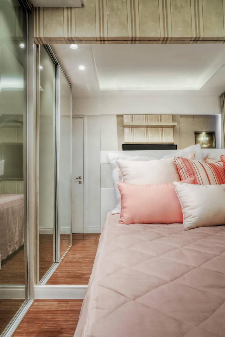 Chambre de style  par M2A - Arquitetura e Eventos Ltda,