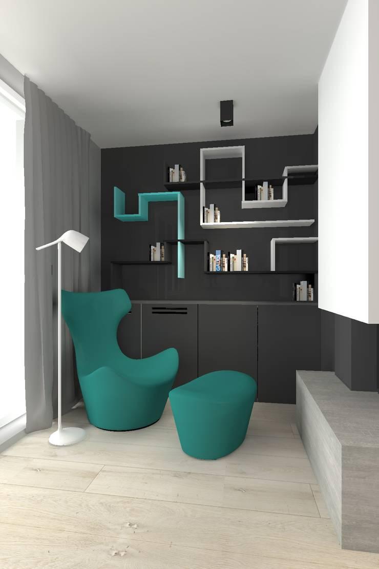 Dom pod Warszawą: styl , w kategorii Salon zaprojektowany przez TILLA