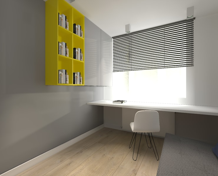 Dom pod Warszawą: styl , w kategorii Domowe biuro i gabinet zaprojektowany przez TILLA
