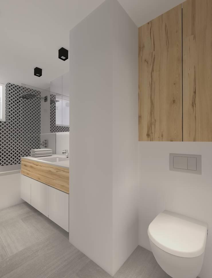 Dom pod Warszawą: styl , w kategorii Łazienka zaprojektowany przez TILLA