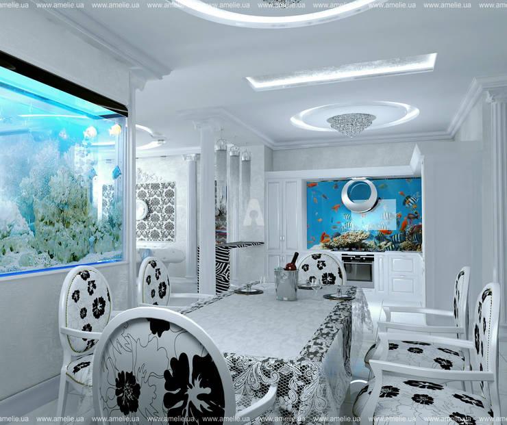 От кутюр: Гостиная в . Автор – Дизайн-студя интерьера AMELIE™