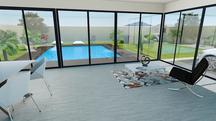 Terrazas de estilo  por Agence 3Dimensions