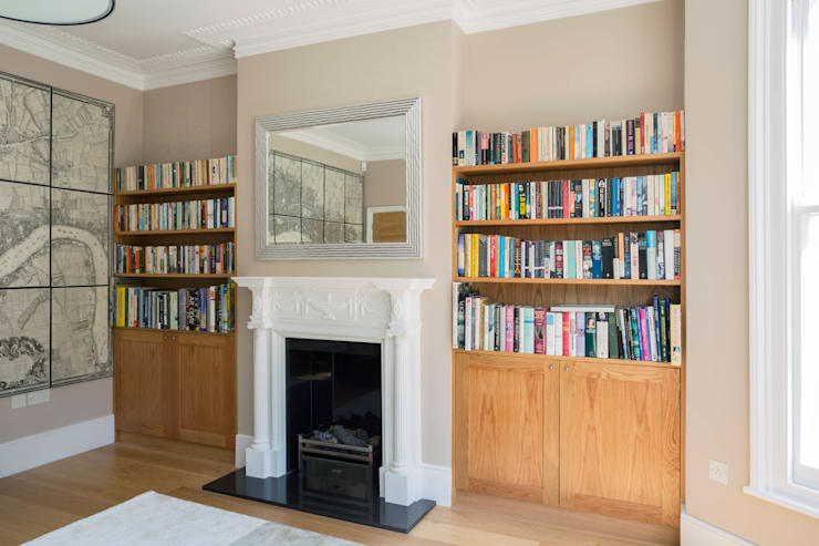 Fulham House:  Living room by Frost Architects Ltd