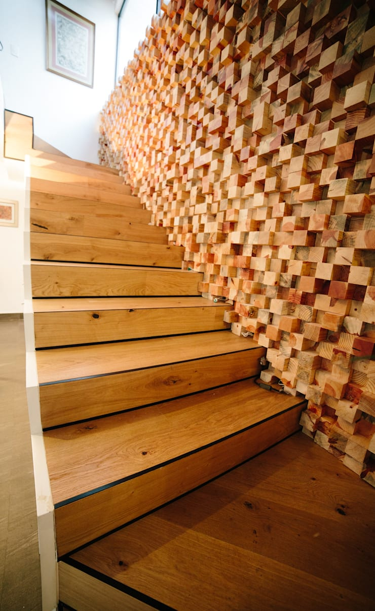 DETALLE ESCALERA:  de estilo  por gOO Arquitectos
