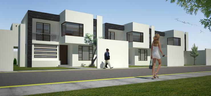 Render de conjunto: Casas de estilo  por Arquitectura Libre
