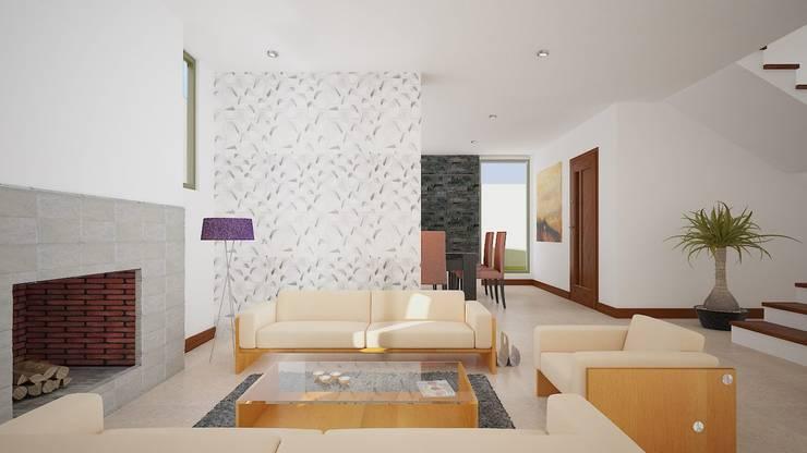 Render Interior: Salas de estilo  por Arquitectura Libre
