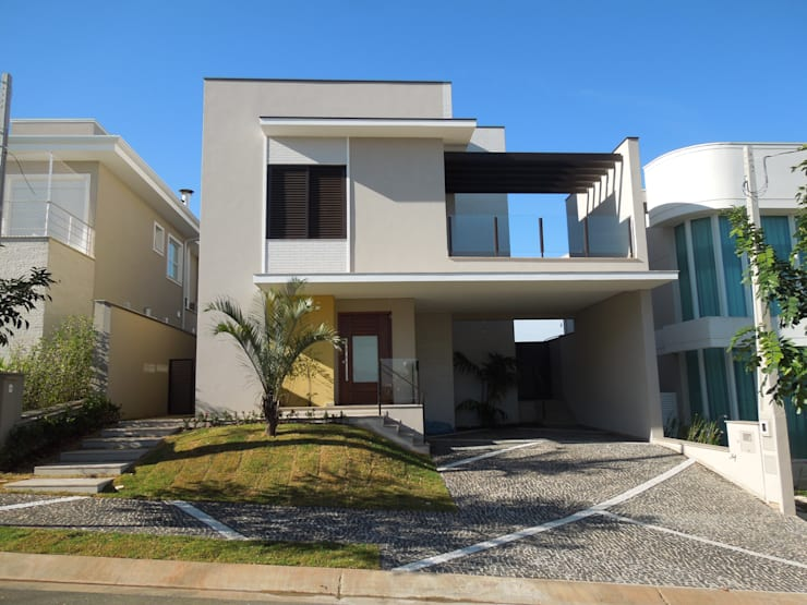 Residencia Campinas/SP: Casas modernas por Vieitez Bernils Arquitetos Ltda.