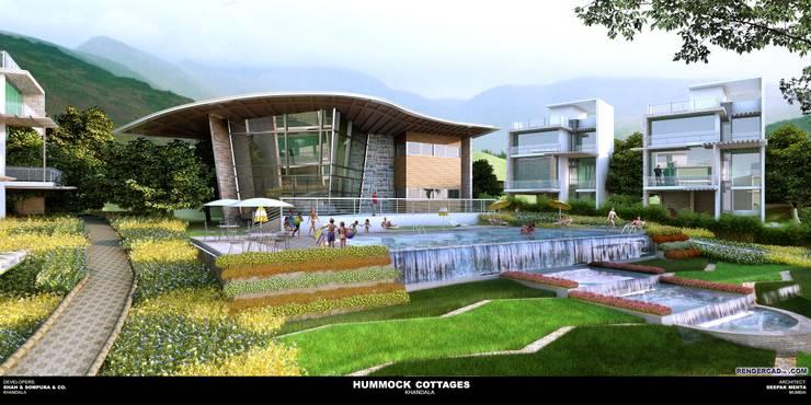 Hummouck villas:  Houses by Deepak Mehta Architect