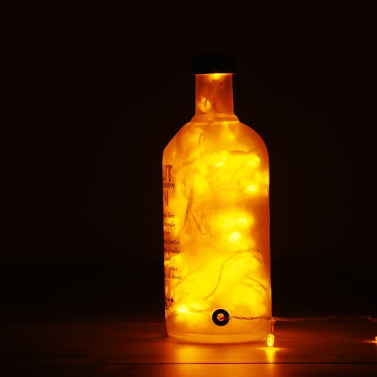 LAMPBADA DESIGN LAMP – Absobottle Gold Luxury Lamp, El Yapımı:  tarz , Klasik Cam