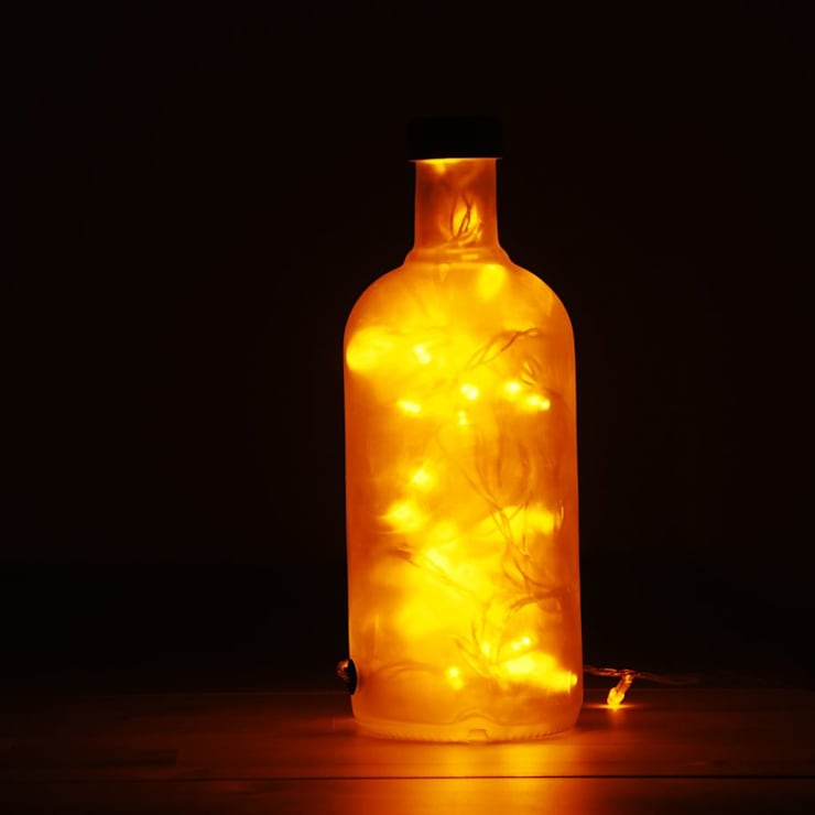 LAMPBADA DESIGN LAMP – Absobottle Gold Luxury Lamp, El Yapımı:  tarz İç Dekorasyon