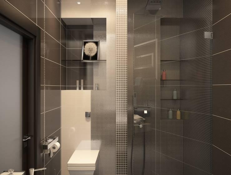 Линии воды: Ванные комнаты в . Автор – Astar project