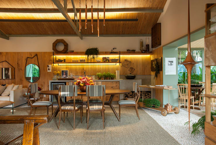 ห้องนั่งเล่น by Marina Linhares Decoração de Interiores