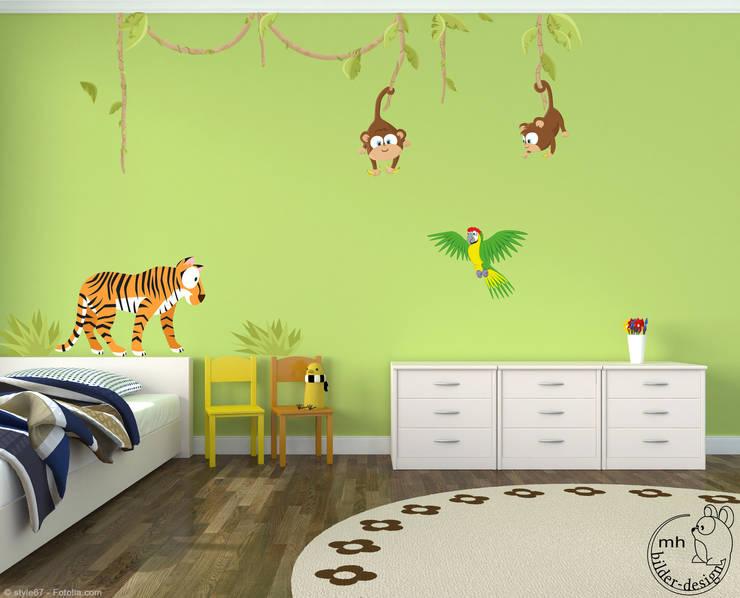 Wandtattoos Dschungel Im Kinderzimmer Von Mhbilder Design Homify