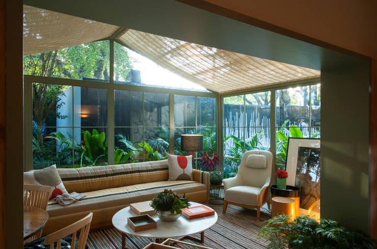 Marina Linhares Decoração de Interiores:  tarz Oturma Odası