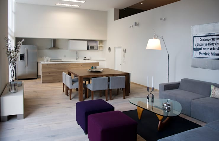 Estancia: Salas de estilo escandinavo por Basch Arquitectos