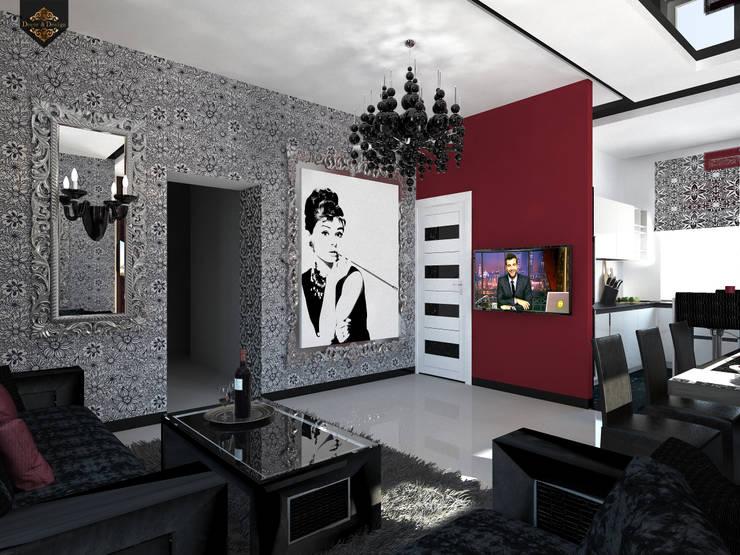 Projekty,  Salon zaprojektowane przez Decor&Design