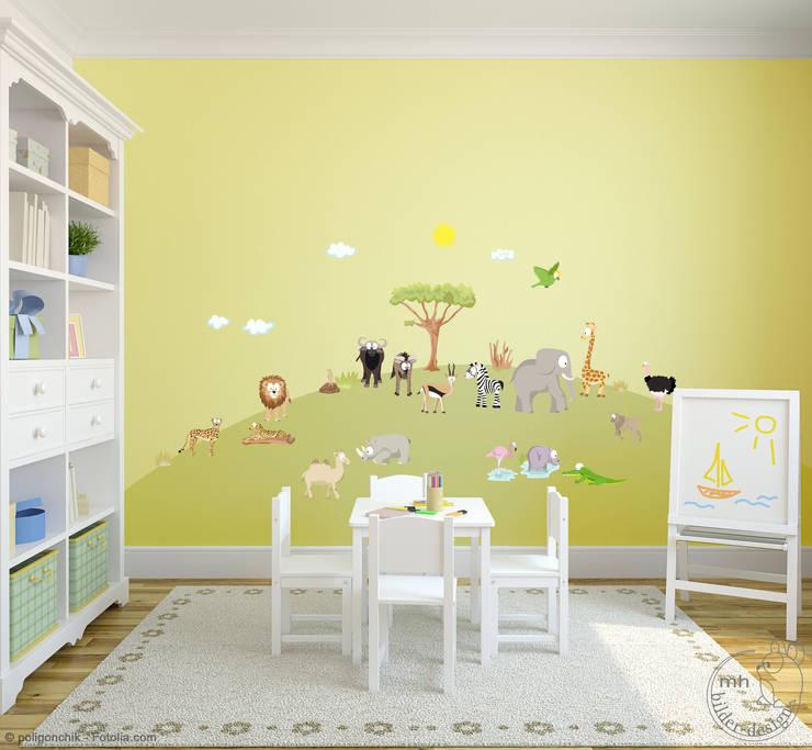 Wandtattoos - Dschungel im Kinderzimmer von MHBilder-Design | homify