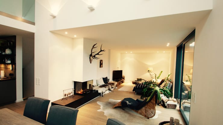 Projekty,  Salon zaprojektowane przez moser straller architekten