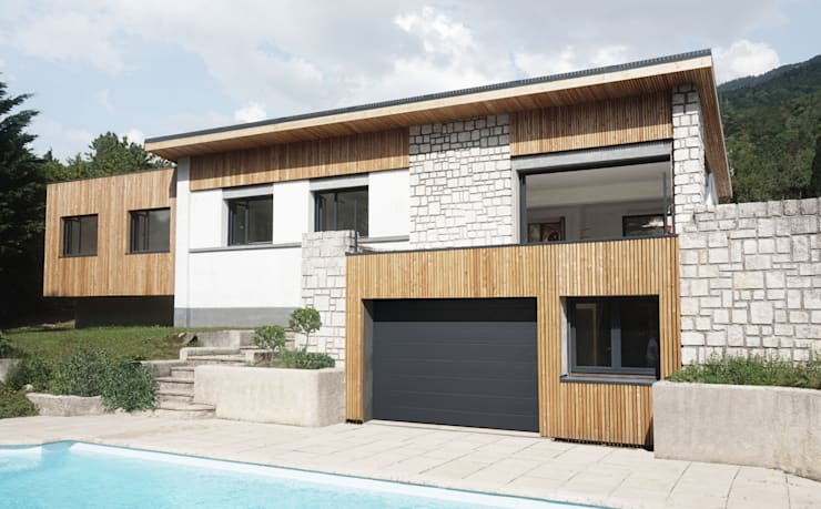 extension de la Maison Rouge Gorge: Maisons de style  par DIID architectes