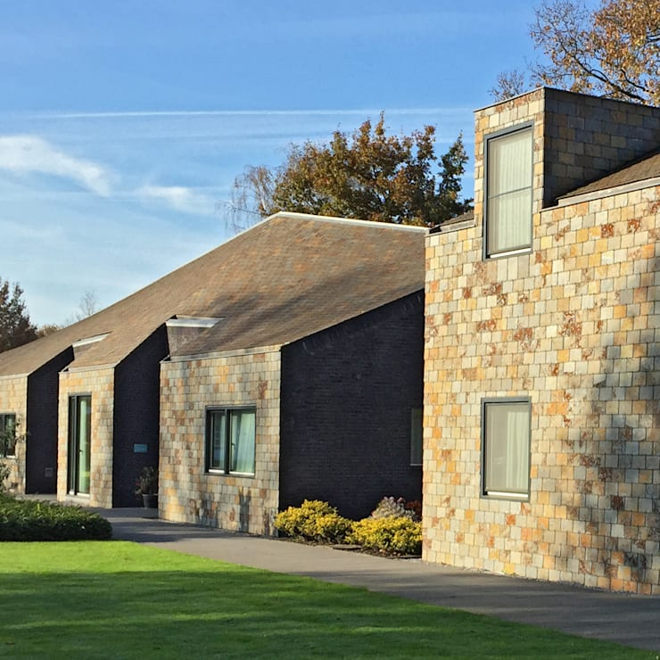 Appartementen Bergeijk:  Huizen door paul tesser architect, Modern