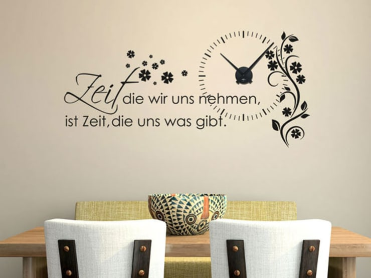 Uhrwerk Schwarz ohne Wandtattoo von Graz Design | homify