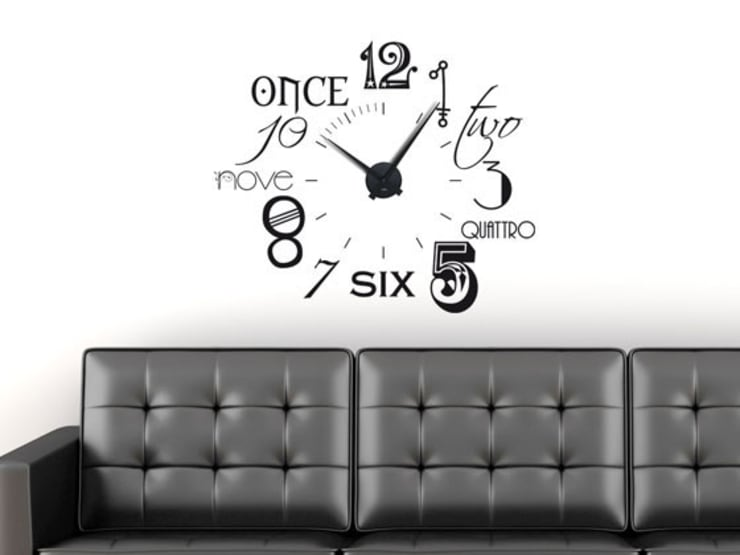 Uhrwerk Schwarz Ohne Wandtattoo Von Graz Design Homify