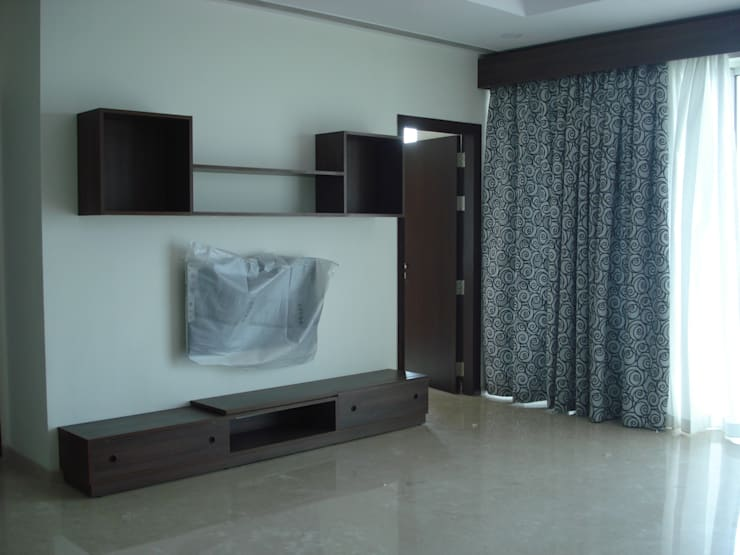 Private Apartment in Mumbai—2300 sq. ft.: minimalistic Living room by Global Associiates
