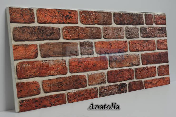 Delle Dekoratif Yapı Ürünleri San. Tic. Ltd. Şti. – ANATOLİA STROTEX DUVAR PANELİ:  tarz Duvar & Zemin