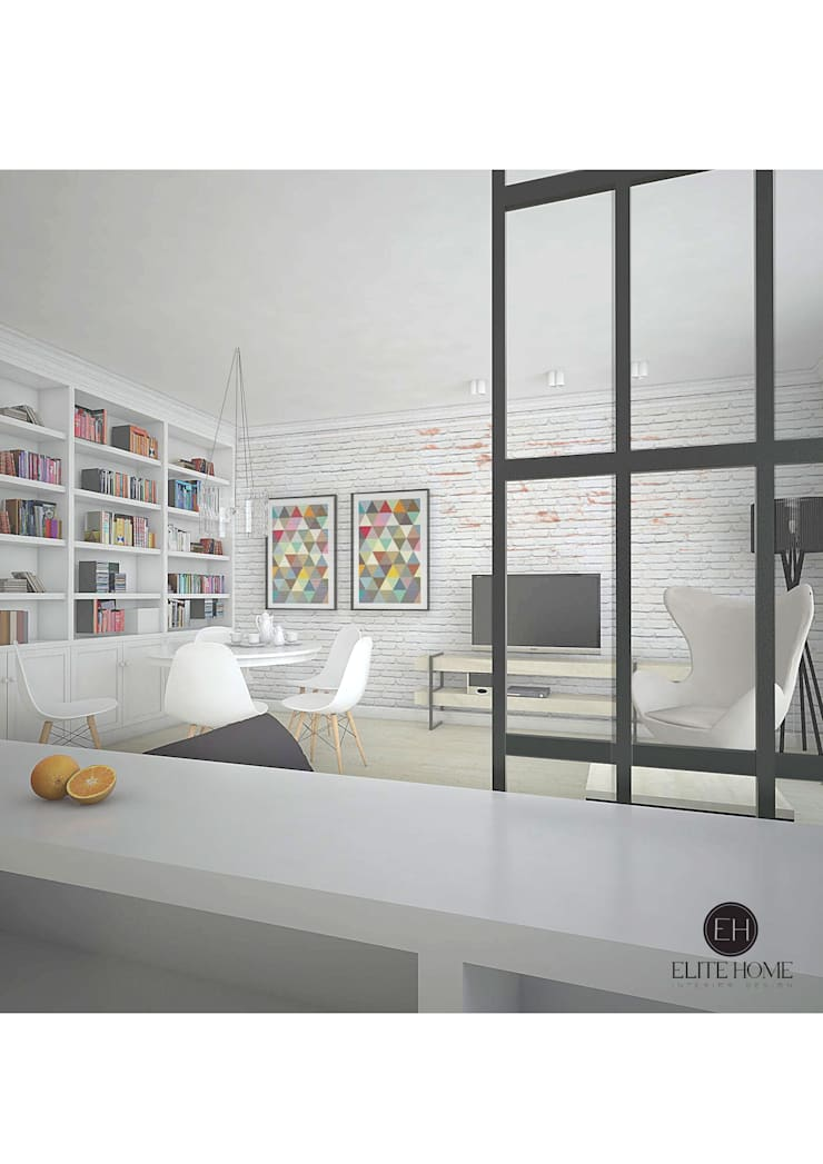 MIESZKANIE 1: styl , w kategorii  zaprojektowany przez ELITE HOME
