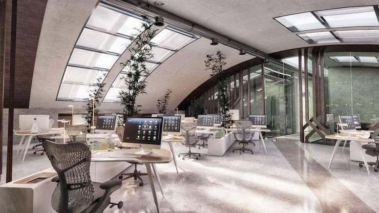 Studio Vertebra – Kevkeb Metal Ofisleri: modern tarz Çalışma Odası