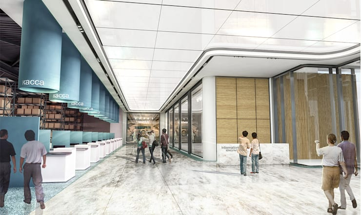 Studio Vertebra – Kırım Yapı Market: modern tarz Evler