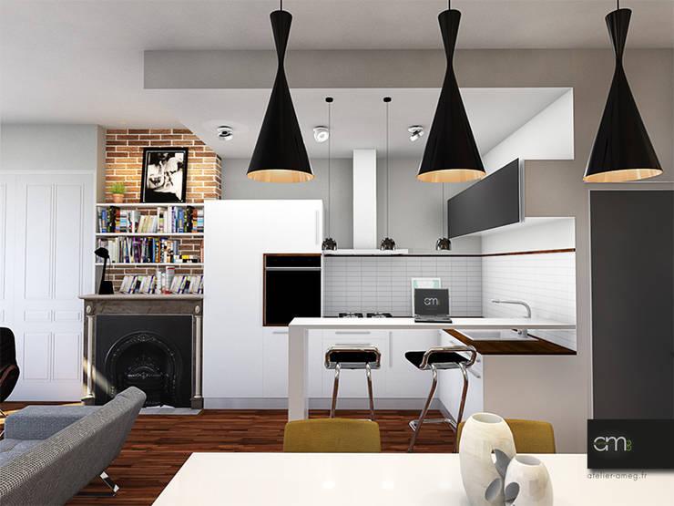 Appartement à Oullins (69): Cuisine de style  par atelier AMEG