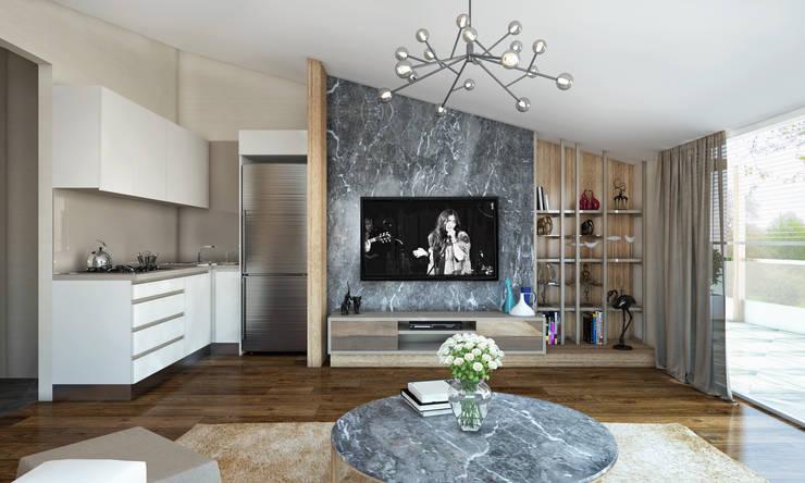 BWorks  – TD HOUSE:  tarz Oturma Odası, Modern
