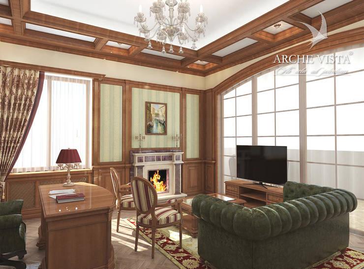 #2: styl , w kategorii Domowe biuro i gabinet zaprojektowany przez ARCHE VISTA