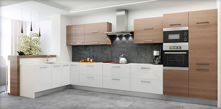 minimalistic Kitchen by ARCHE VISTA