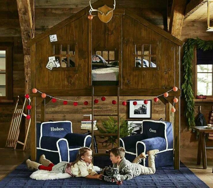 غرفة الاطفال تنفيذ Çelebi Ahşap & İç Dekorasyon ve Tasarım