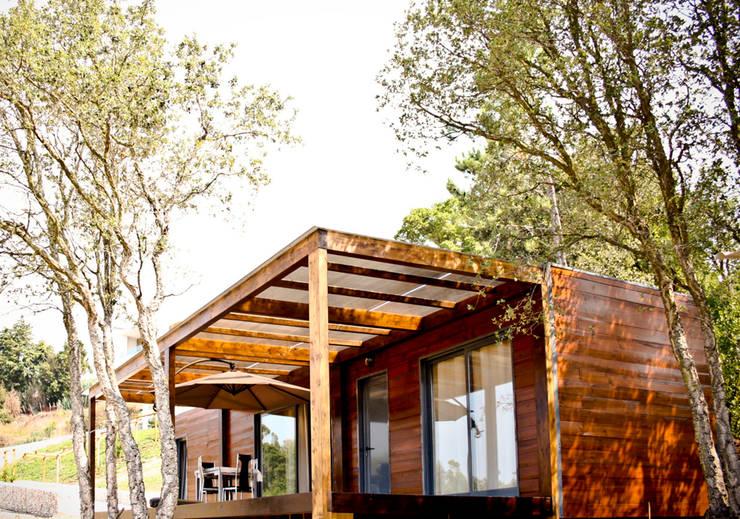 Projecto Bungalow Alcobaça: Casas rústicas por goodmood - Soluções de Habitação