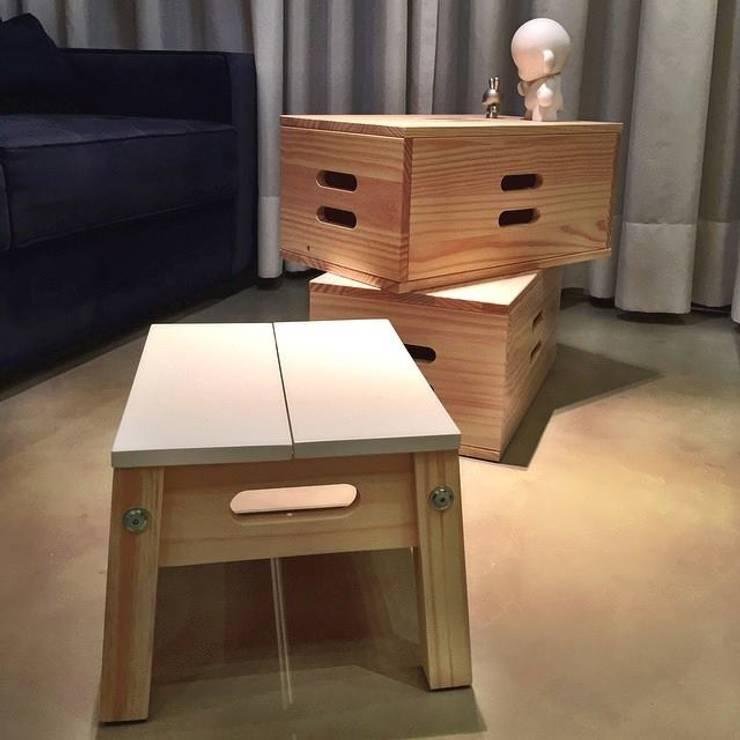 Reforma Apartamento Guarapari: Salas de estar  por STUDIO 52