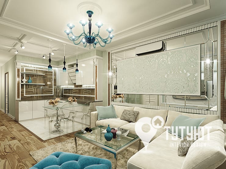 Salon de style  par Interior Design Studio Tut Yut
