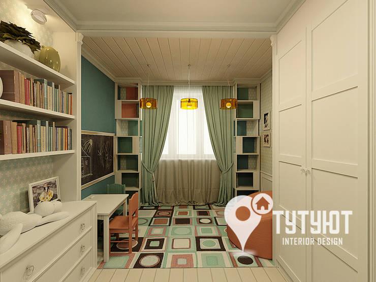 Нежный интерьер для счастливой хозяйки в ЖК <q>Университетский</q>: Детские комнаты в . Автор – Interior Design Studio Tut Yut
