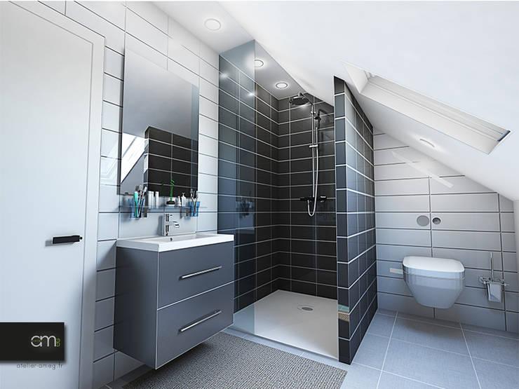 Villa à Bagneux (92): Salle de bains de style  par atelier AMEG