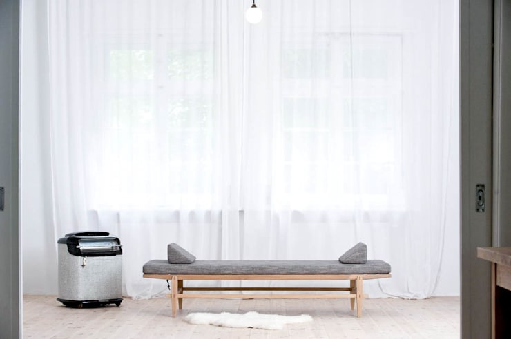 L1 Szezlong: styl , w kategorii Sypialnia zaprojektowany przez Loft Kolasiński