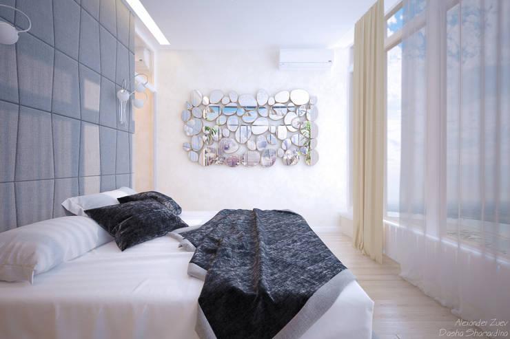 Quartos modernos por Студия интерьерного дизайна happy.design