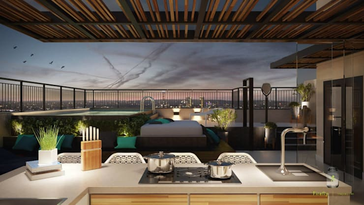 Reforma Apartamento Place: Terraços  por STUDIO 52
